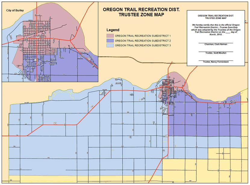 Oregon Trail On Us Map.Oregon Trail Recreational District